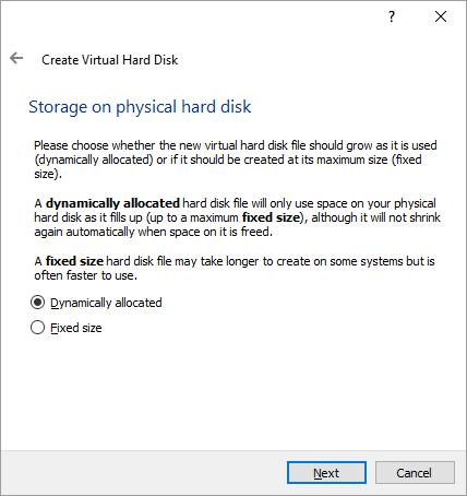 Set Storage Type