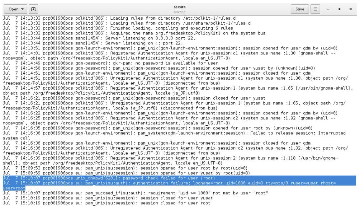 linux Secure log