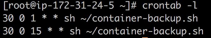 コンテナをS3へアップロードするシェルスクリプトの実行結果