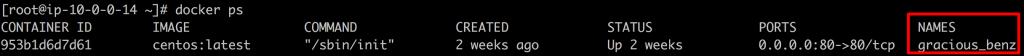 docker_psコマンドの実行結果